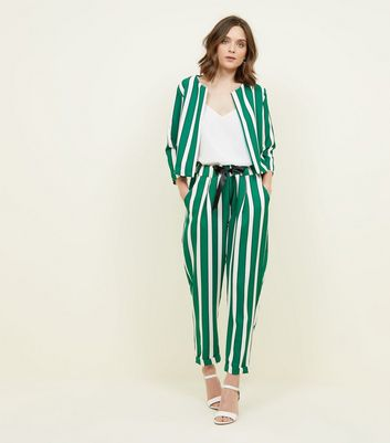 Cameo Rose Green Stripe Trousers