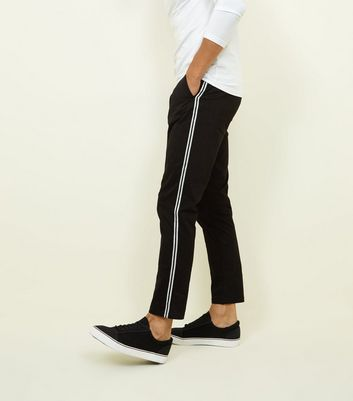 Black Side Tape Tapered Chinos