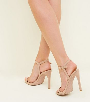 nude-suedette-glitter-sole-stiletto-heels by new-look