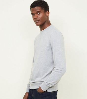 Grey Marl Crew Neck Sweatshirt by New Look