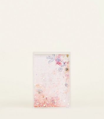 Pale Pink Floral Be Bold Shake It Frame