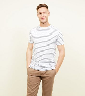 White Stripe Short Sleeve T-Shirt