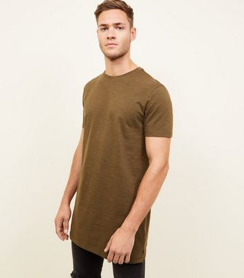 Khaki Longline Fit T-Shirt