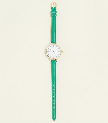 Green Mini Strap Watch
