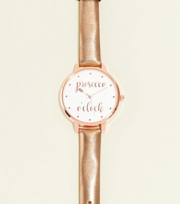 Rose Gold Prosecco O'clock Watch