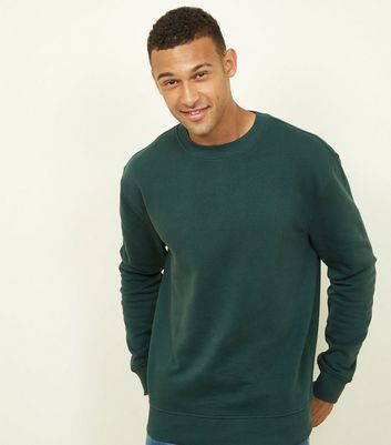 Green Cotton Blend Sweatshirt