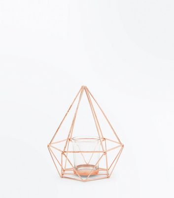 Pale Pink Tall Structured Lantern by New Look