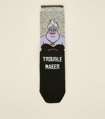 Black Trouble Maker Ursula Socks