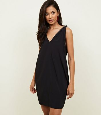 Noisy May Black Tie Shoulder Mini Dress