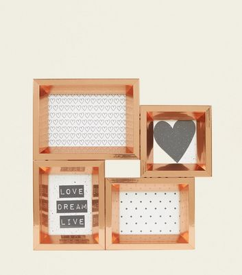 Rose Gold Multi Picture Frame
