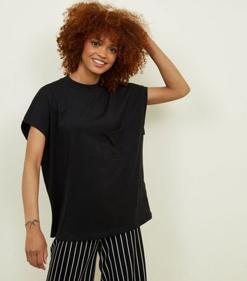 Noisy May Black High Neck T-Shirt