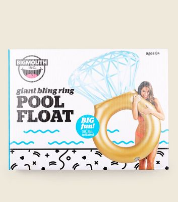 Multi Coloured Giant Bling Ring Pool Float by New Look