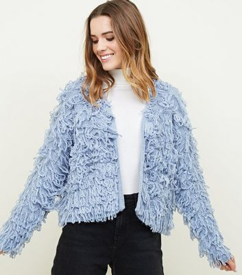 Pale Blue Loop Knit Cardigan