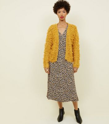 Mustard Loop Knit Cardigan