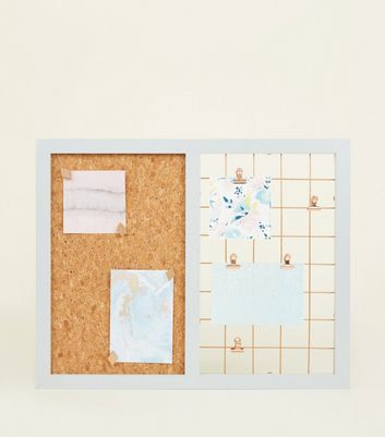 White Contrast Grid and Cork Board