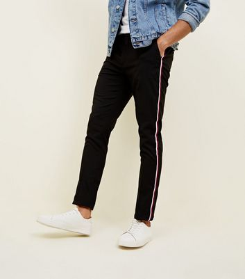 Red Side Stripe Skinny Trousers
