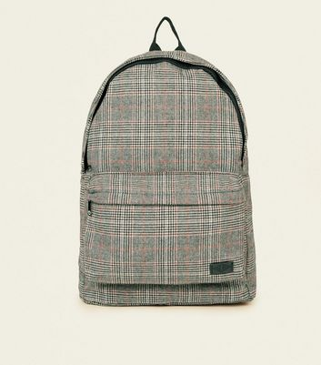 Black and Red Check Backpack