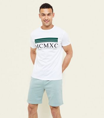Mint Green Drawstring Jersey Shorts