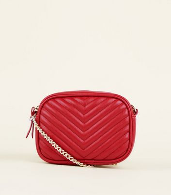 Red Quilted Camera Bag