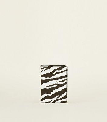 Black Zebra Print Passport Holder by New Look