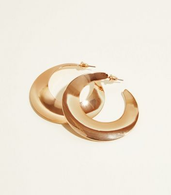 Gold Formed Hoop Earrings