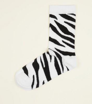 Black Zebra Pattern Socks