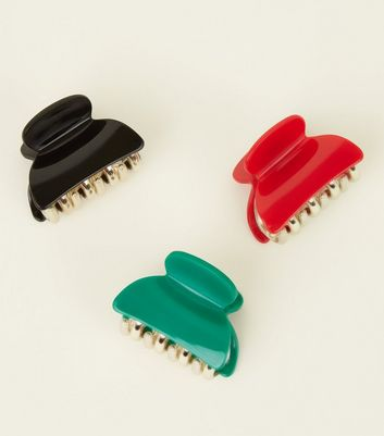 3 Pack Multicoloured Bulldog Clip