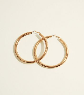 Gold Chunky Oversized Hoop Earrings