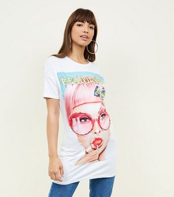 Cameo Rose White Slogan Lollipop Lady T-Shirt