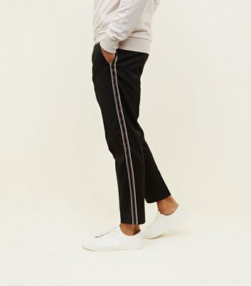 Black Side Stripe Pull-On Trousers