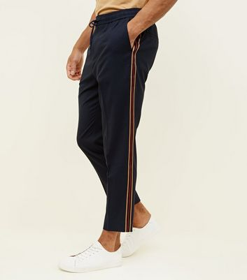 Navy Side Stripe Pull-On Trousers