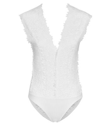 Women/'s Lace Detail Bodysuit Lingerie Sleeveless V Neck Leotard Primark 10-12