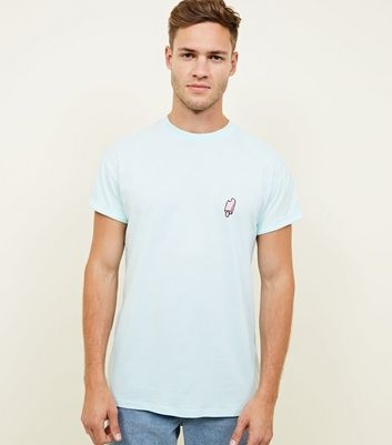 Mint Green Lolly Embroidered Logo T-Shirt