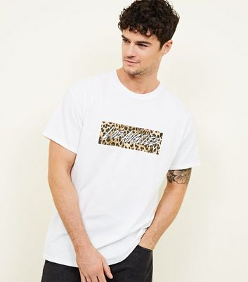 White Leopard Los Angeles Box Print T-Shirt