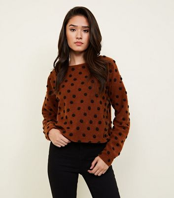 Rust Brushed Felted Spot Jumper
