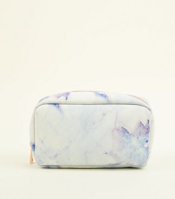 White Marble Effect Make Up Bag by New Look