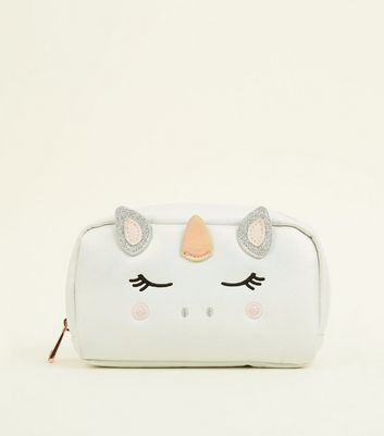 White Unicorn Make-Up Bag