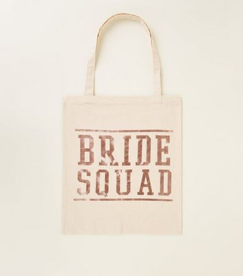 Offf White Bride Squad Canvas Bag