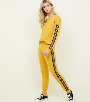 Mustard Side Stripe Joggers