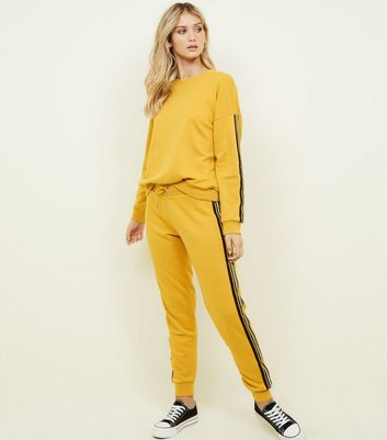 Mustard Side Stripe Sweatshirt