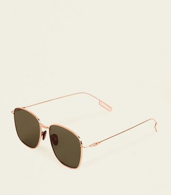 Gold Metal Navigator Sunglasses