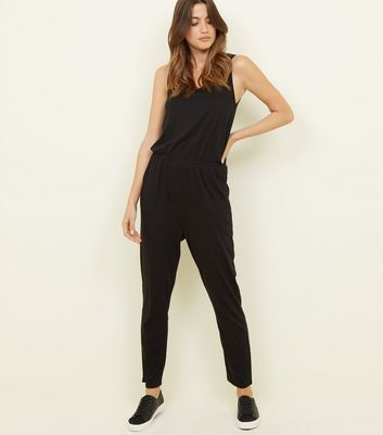 Black Sleeveless Jersey Jumpsuit by New Look