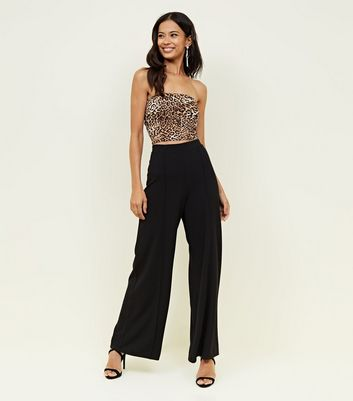 Black Wide Leg Evening Trousers