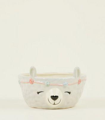 Cream Llama Bowl by New Look