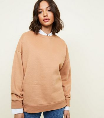 Sweat oversize camel