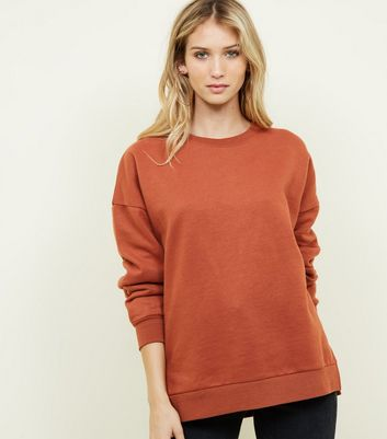 Sweat oversize rouge brique