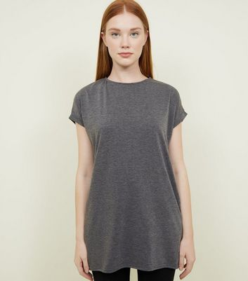 Dark Grey Longline T-Shirt