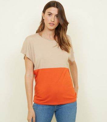 Tall Rust Colour Block T-Shirt