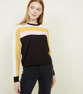 Black Stripe Yoke Jumper