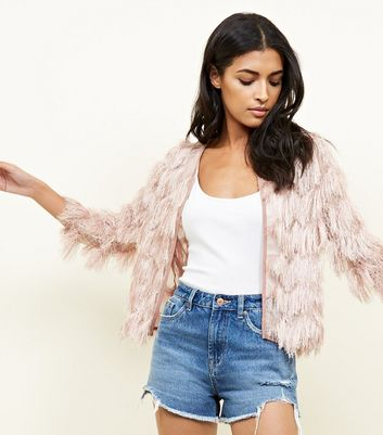 Cameo Rose Pale Pink Tassel Jacket